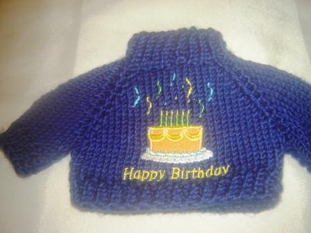 Navy Blue Birthday Sweater
