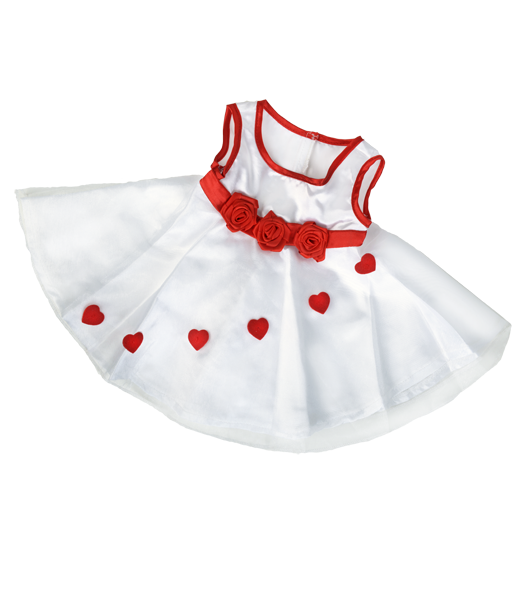 Rosebuds and Hearts Dress for 14-16 inch bears