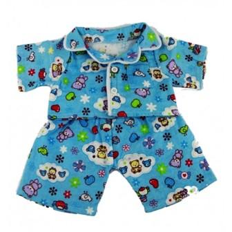 10-12 inch Blue Teddy Bear Pajamas