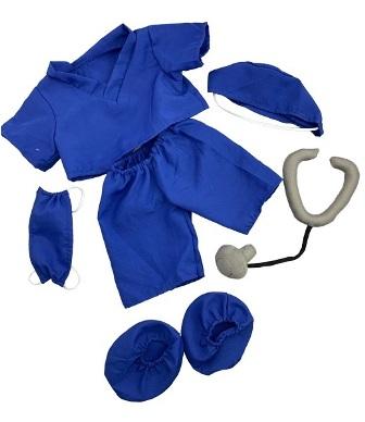 6 piece Dark Blue Scrubs for 8-10 inch bears