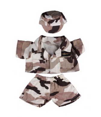 3 piece Army Camo Outfit for 8 to 10 inch bears