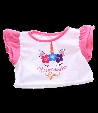 8 to 10 inch Birthday Girl Unicorn Shirt