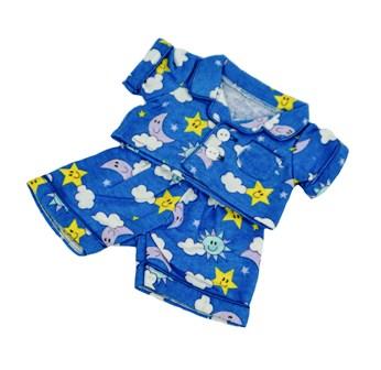 8-10 inch Blue Moon and Stars Pajamas