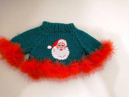 Boa Trimmed Santa Sweater