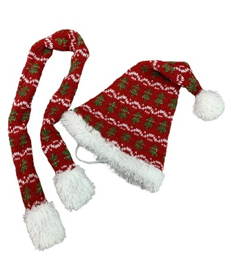 Festive Hat and Scarf Set