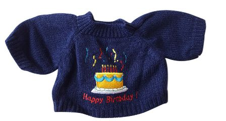 Happy Birthday Sweater for 12-14 inch bears
