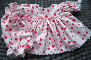 Heart Dress with Pink Ribbons