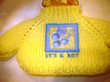 It's a Boy Yellow Sweater