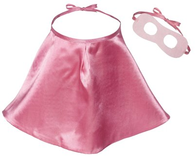Pink Super Hero Cape and Mask