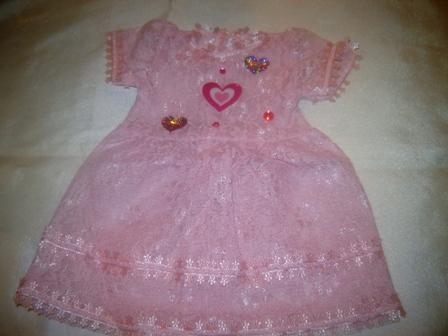 Pink Sheer Lace Dress
