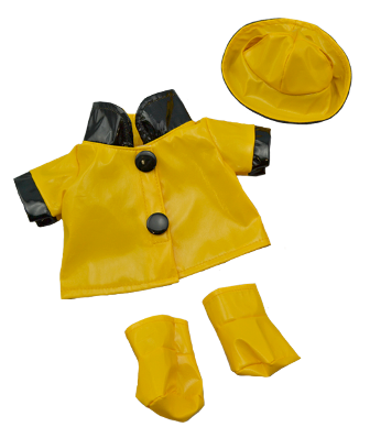 3 piece Raincoat Set for 8 - 10 inch bears