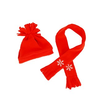 Red Scarf and Hat Set