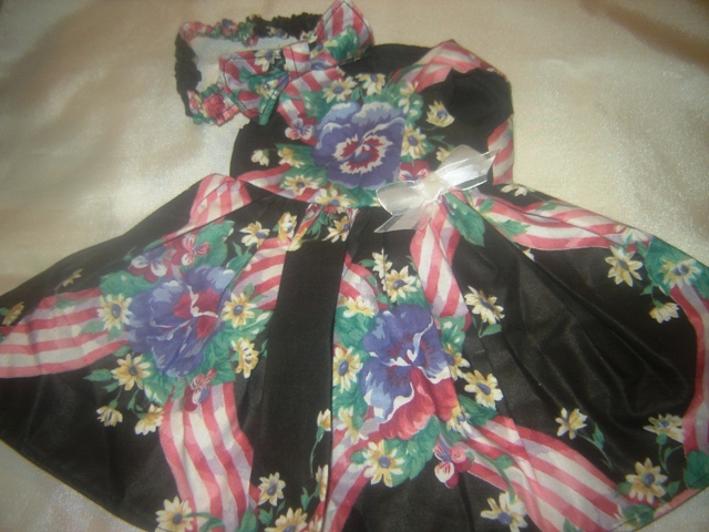 Ribbons and Flowers Dress and Headband