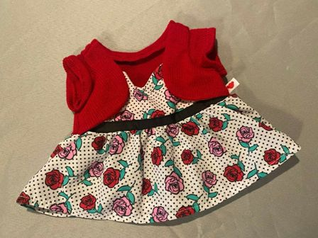 Pink and Red Roses Dress