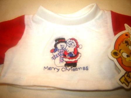Santa and the Snowman 8-10 inch shirt
