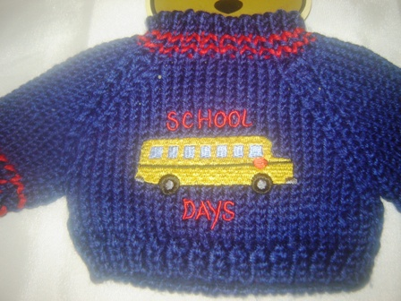 School Bus Sweater