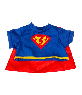 Superman Shirt and Cape for 8 to 10 inch bears