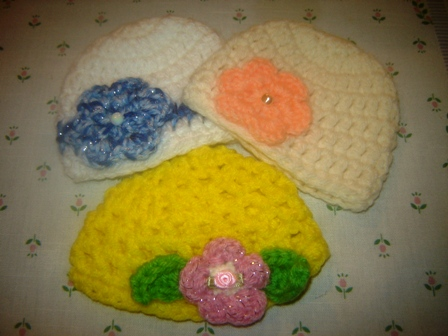 Fancy Crocheted Hats
