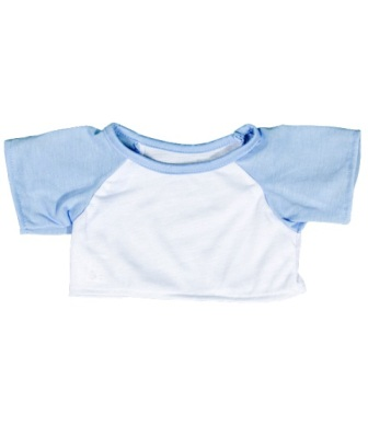 8 to 10 inch White with Baby Blue Sleeves