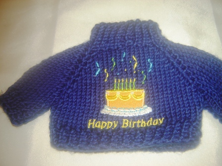 Navy Blue Birthday Sweater