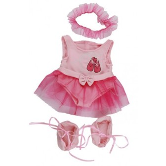 10-12 inch Pink Ballerina Outfit
