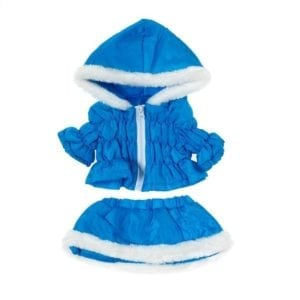 Blue Winter Parka and Skirt