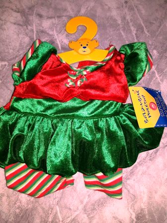 2 bows Christmas Elf Costume