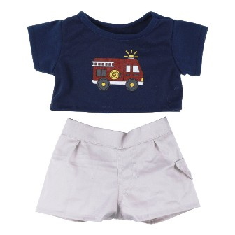 Fire Truck Pants Set