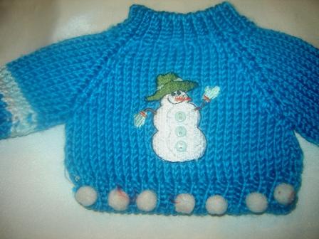 3 button Snowman Sweater