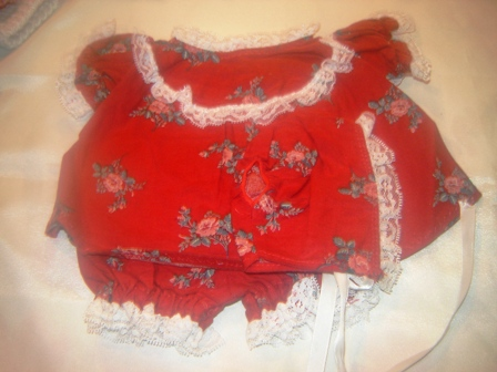 3 piece Burgundy Dress and Hat