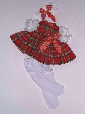 3 piece Christmas Plaid Dress
