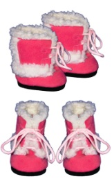 Pink Furry Boots