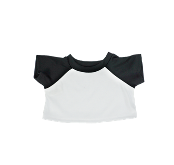 White with Black Sleeves