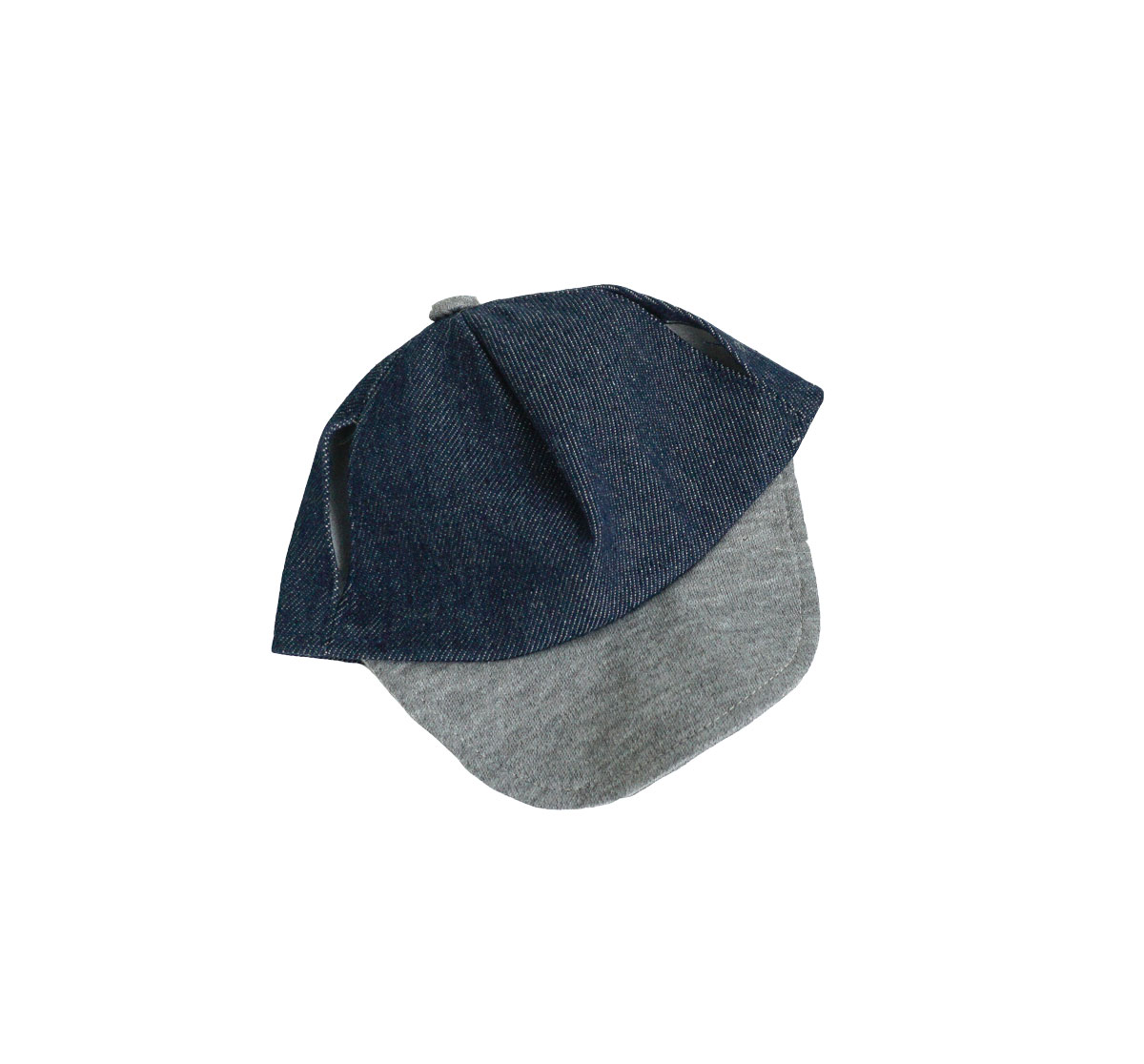 Blue Denim and Grey Hat