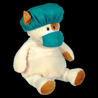 Green Hospital Scrub Hat and Mask Set