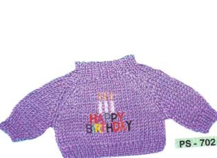Purple Happy Birthday Sweater