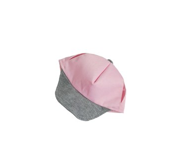 Pink and Grey Hat