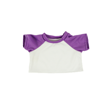 White with Purple Sleeves