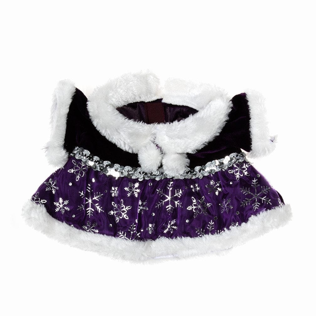 Purple Fur Trimmed Snowflake Outfit