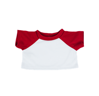 White Shirt with Red Sleeves