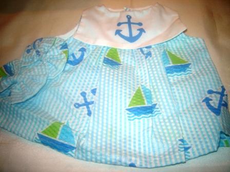 Anchors and Sailboats Dress