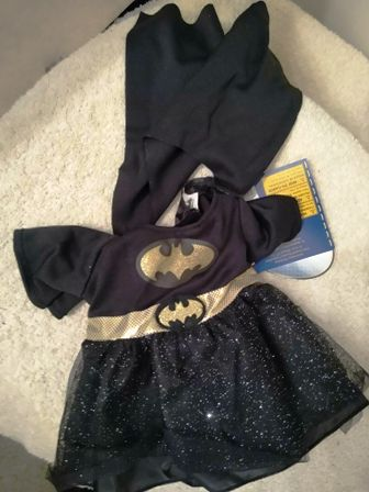 Black and Gold Bat Girl Costume