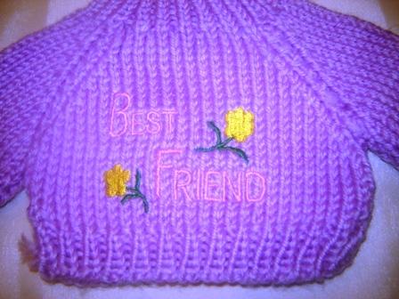 Best Friends Flower Sweater
