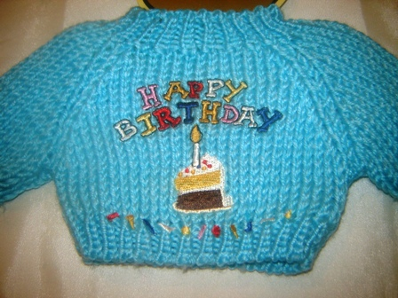 Birthday Cake Sweater