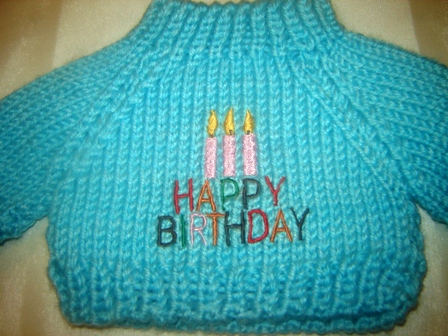 Birthday Candles Sweater