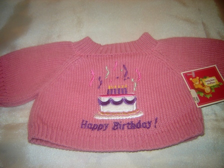 Happy Birthday Sweater for 14-16 inch bears