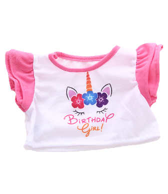 8 to 10 inch Birthday Girl Unicorn Shirt