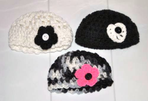 Crocheted Black and White Collection