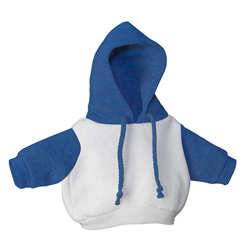 White and Royal Blue Hoodie