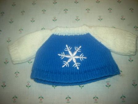 Blue and White Snowflake Sweater